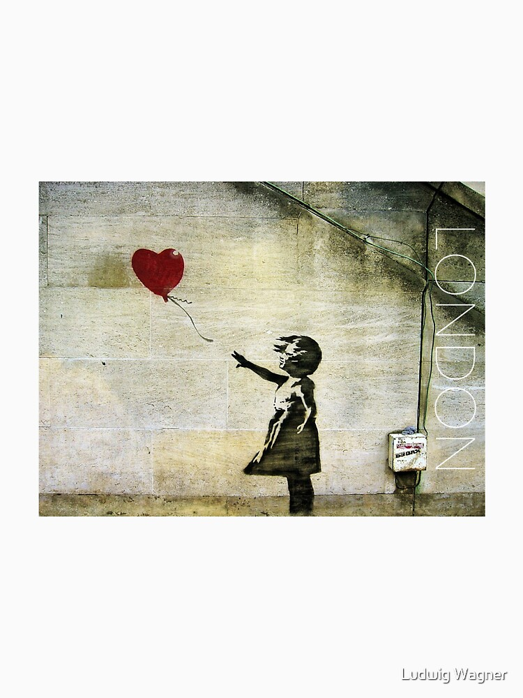 Banksy's Girl with a Red Balloon by zuluspice