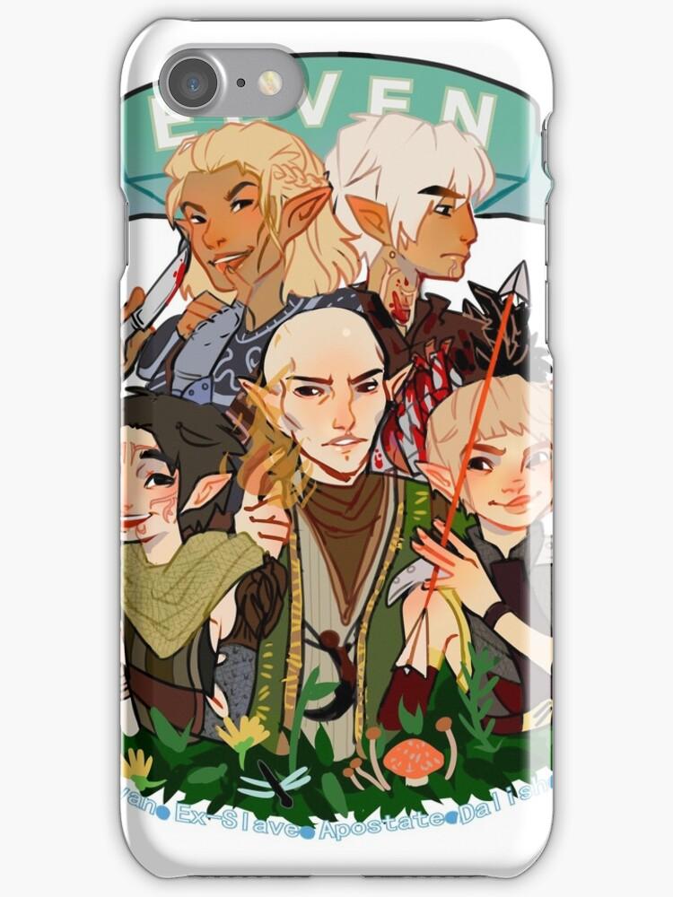 Dragon Age Elves iphone case