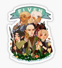 Dragon Age Elves Sticker
