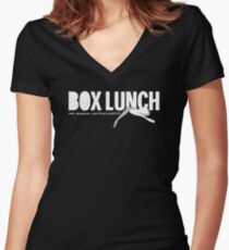 Box Lunch Official T-shirt, circa 2008 Women's Fitted V-Neck T-Shirt