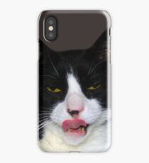 HUNGRY TUXEDO CAT iPhone Case