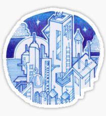 Blue Fantasy Landscape Sticker