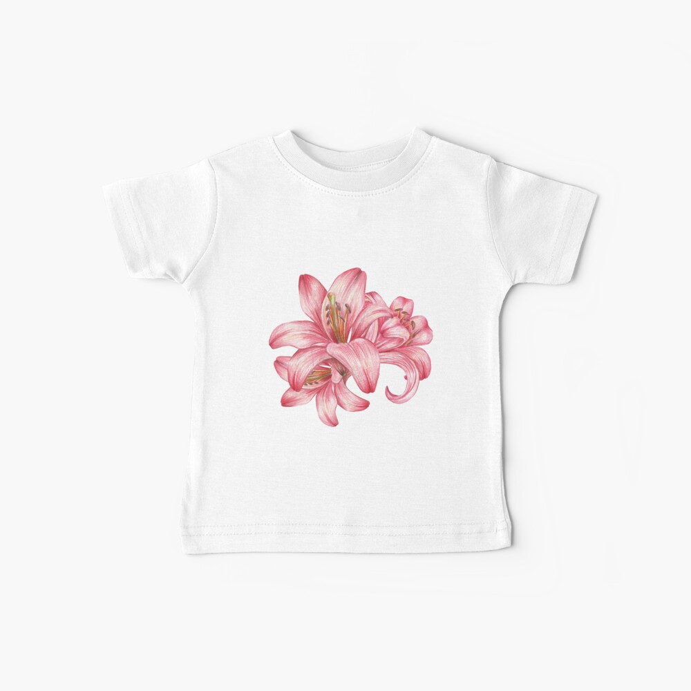 Lilie flowers_3 Baby T-Shirt