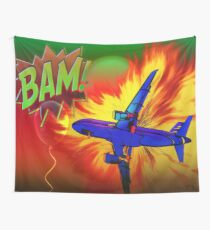 Comic Plane Wall Tapestry