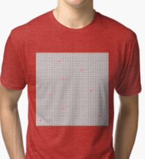 Carreaux - Grey/Pink - Bis Tri-blend T-Shirt