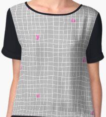Carreaux - Grey/Pink - Bis Top mousseline