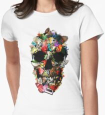 Fragile Skull 2 Womens Fitted T-Shirt