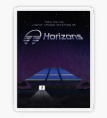 Horizons from EPCOT Center (with Text) Transparent Sticker