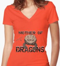 Mère des dragons barbus T-shirt col V femme