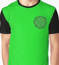 Green Flower Ribbon Graphic T-Shirt