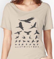 Birdwatching Eye Chart Modern Birding Gift Women's Relaxed Fit T-Shirt