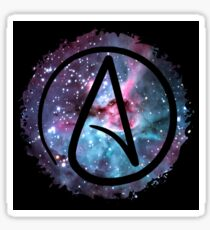 Starry Atheist Sticker