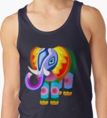 Elephant Rainbow Colors Patchwork T-Shirt