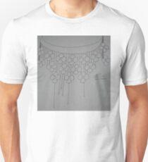Flower necklace sketch -BW Unisex T-Shirt