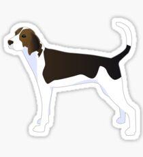 Treeing Walker Coonhound Basic Breed Silhouette Illustration Sticker