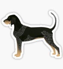 Bluetick Coonhound Basic Breed Silhouette Illustration Sticker