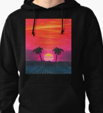 Retro sunset 2 Pullover Hoodie