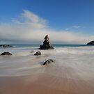 Blue Skies Above Sango Bay by Maria Gaellman