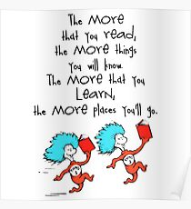 Thing Read Book Dr Seuss Quote Poster