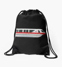 Monorail Red Drawstring Bag