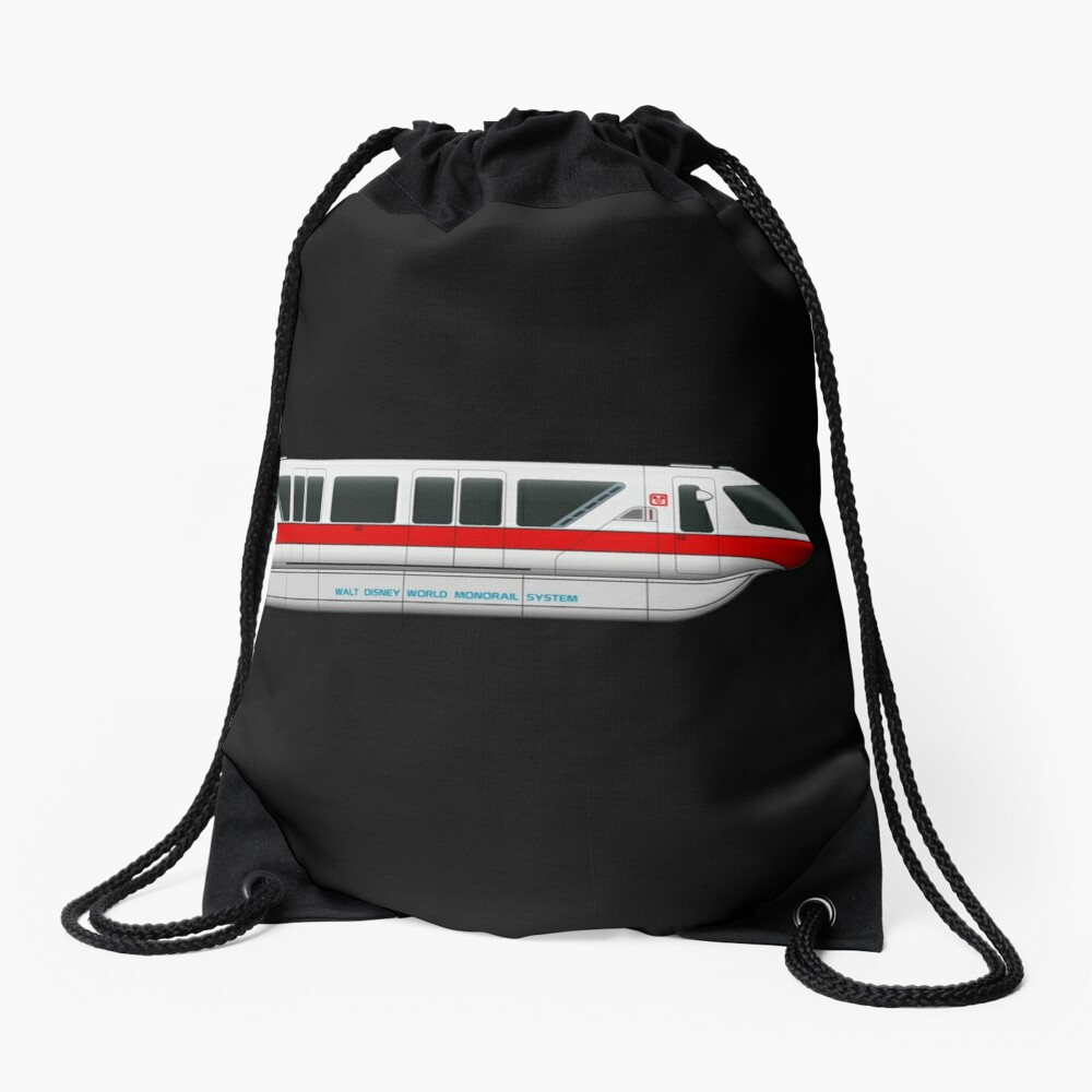 Monorail Red Drawstring Bag