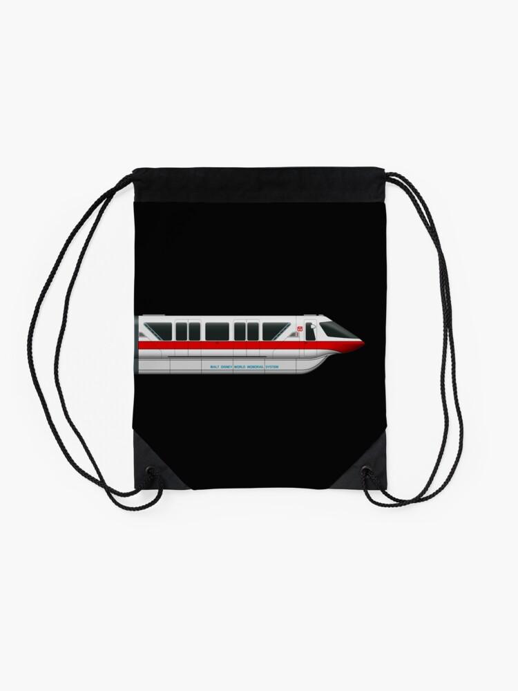 Alternate view of Monorail Red Drawstring Bag