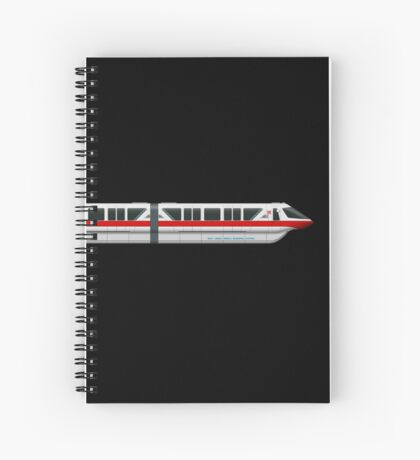 Monorail Red Spiral Notebook