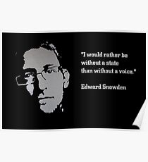Edward SNOWDEN - voice QUOTE Poster