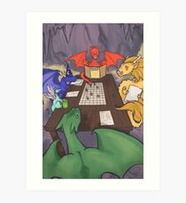 Dragons and Dungeons Art Print