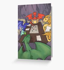 Dragons and Dungeons Greeting Card
