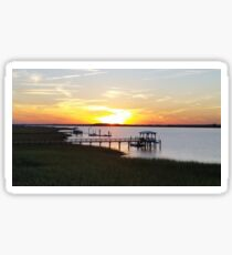 A Sunset on Coastal Carolina Waterways Sticker