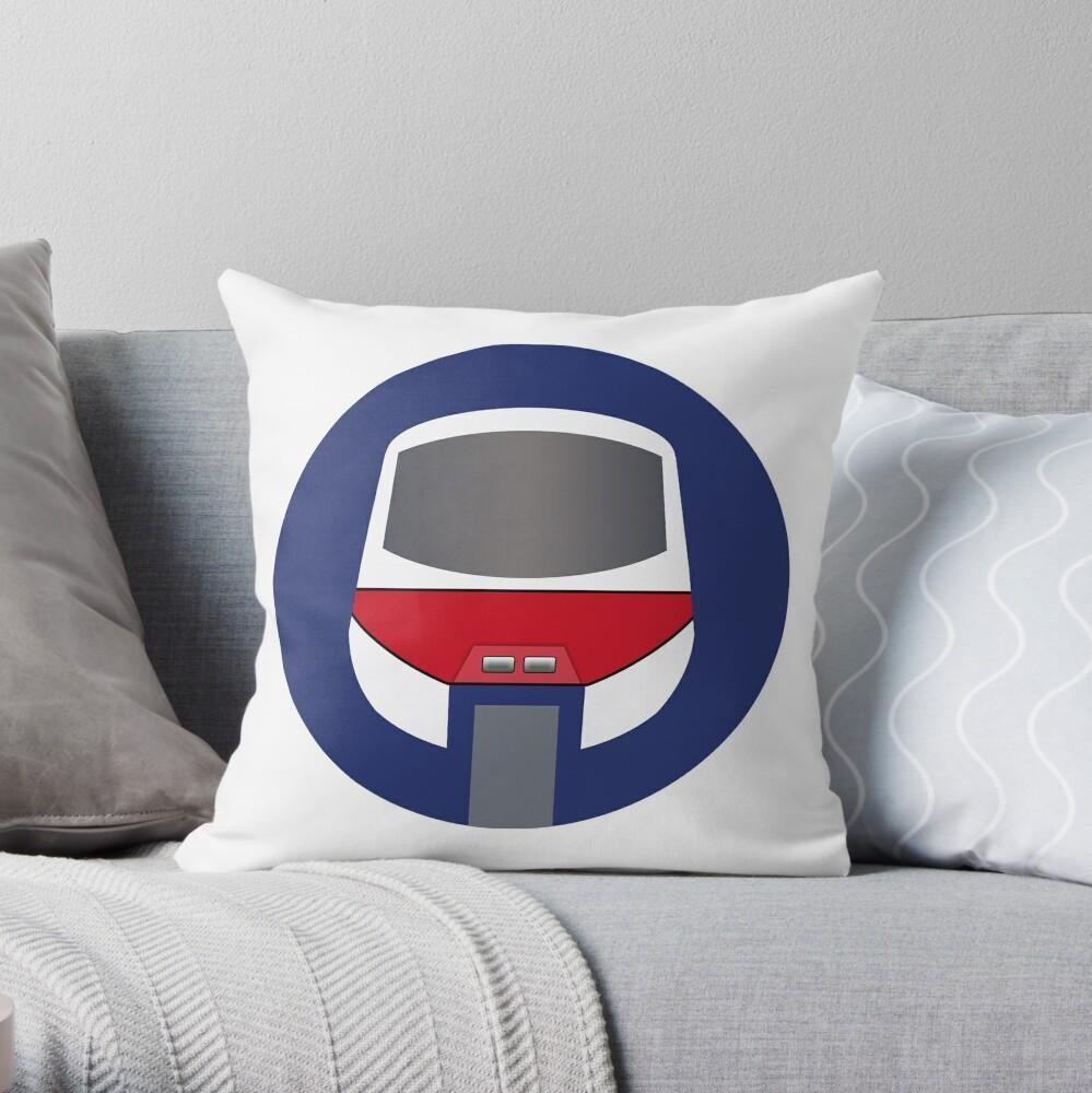 Monorail Logo Throw Pillow