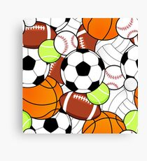 Sports Fan Pattern Canvas Print