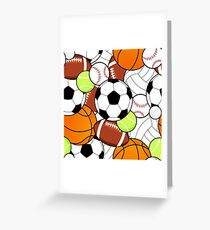 Sports Fan Pattern Greeting Card