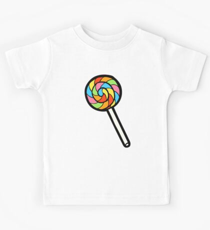 Rainbow Lollipop Pattern Kids Clothes