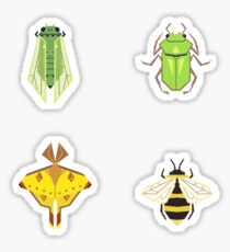 Insecta Geometrica - Geometric Insects Pattern Sticker