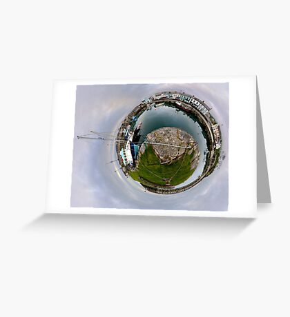 Hurry Head Harbour, Carnlough, County Antrim - Sky out Greeting Card