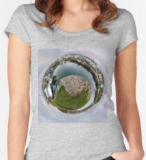 Hurry Head Harbour, Carnlough, County Antrim - Sky out Women's Fitted Scoop T-Shirt