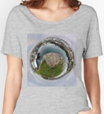 Hurry Head Harbour, Carnlough, County Antrim - Sky out Women's Relaxed Fit T-Shirt