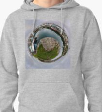 Hurry Head Harbour, Carnlough, County Antrim - Sky out Pullover Hoodie