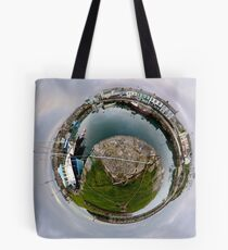 Hurry Head Harbour, Carnlough, County Antrim - Sky out Tote Bag