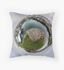 Hurry Head Harbour, Carnlough, County Antrim - Sky out Throw Pillow