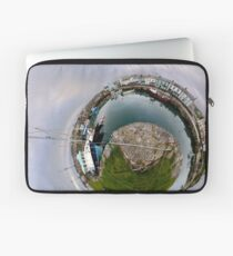 Hurry Head Harbour, Carnlough, County Antrim - Sky out Laptop Sleeve