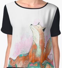 Psychedelic Fox Women's Chiffon Top