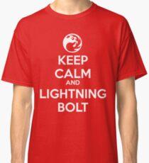 Keep Calm and Lightning Bolt Classic T-Shirt