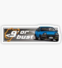 Nurburgring <9' Or Bust Sticker