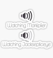 Markiplier and Jacksepticeye Volumes Sticker