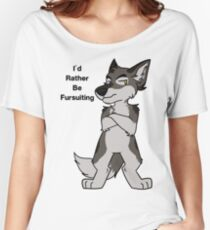 I'd Rather Be Fursuiting V2 Wolf  Women's Relaxed Fit T-Shirt