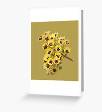 Yellow Wildflower with Purple Center Greeting Card