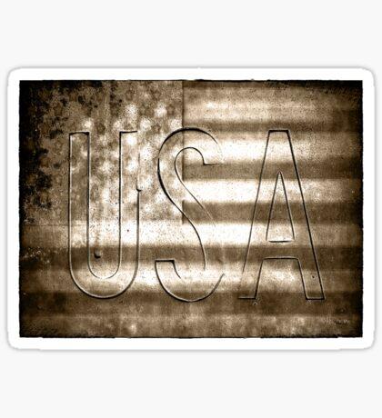 USA in Sepia Sticker